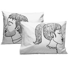 Pus Pus pillow cases by &Bros.