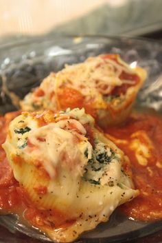 Cheese and Chicken Stuffed Shells...WW Points Plus: 9 points for 3 shells