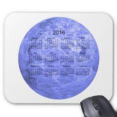 2016 Indigo Blue Calendar by Janz Mousepad