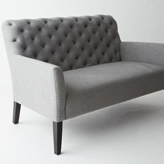 Elston Settee - west elm - look at this in Linen Weave Natural, or the yellow or blue velvet