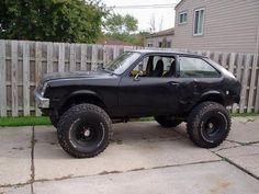 Chevy chevette, jacked up!
