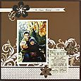 Blessings Divine Scrapbook Layout Project Idea, Creative Memories