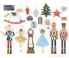 Hoi! Ik heb een geweldige listing op Etsy gevonden: https://www.etsy.com/nl/listing/254645879/watercolor-nutcracker-christmas-clip-art