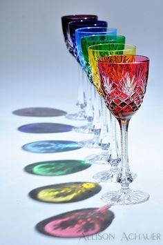 Crystal Light | Six Fabergé crystal Odessa wine glasses in j… | Flickr