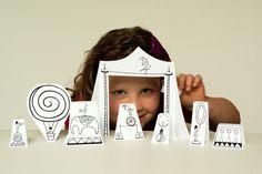 DIY Printable Paper City Circus