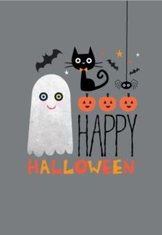 Halloween QUOTATION – Image : Quotes about Halloween – Description Amy Cartwright – Halloween Ghost Pumpkin Cat Bat.jpg More Sharing is Caring – Hey can you Share this Quote ! Halloween Humor, Spooky Halloween, Halloween Chat Noir, Halloween Images, Holidays Halloween, Vintage Halloween, Halloween Crafts, Halloween Decorations, Happy Halloween Pictures