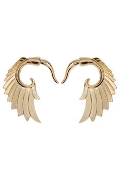 Wing and a Prayer Tunnel Earrings - Accessories   Earrings   Gold  To replace the wings I lost :'(