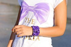 MY T-SHIRT Life is a circus!! Puple bow by Laura Comolli  Purses&I