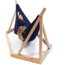 Hammock by Laurent Corio has a unique wooden framework supporting it and makes it quite easy to change its location.