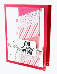 Best Day Ever - Leadership Artisan Samples 2015 | I love how this card shows off the Stacked with Love DSP. -Kaitlyn Zumbach