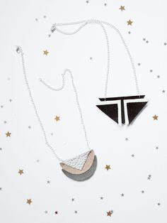 Geometrische Kette aus Leder selbermachen