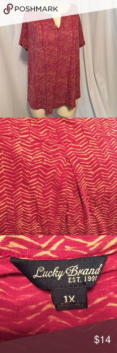 Lucky Brand plus size top Used. In nice clean condition! Lucky Brand Tops