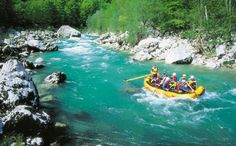 White water rafting on the Soca River