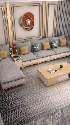 Sofa Bed Design, House Furniture Design, Living Room Sofa Design, Room Design Bedroom, Home Room Design, Home Interior Design, Living Room Decor, Diy Furniture, Sofa For Living Room