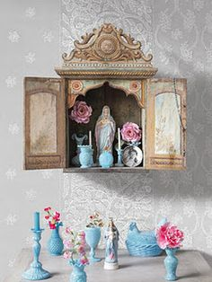 This is a #Catholic #girl thing. lol. :)  Pip Studio shrine. Our Lady.
