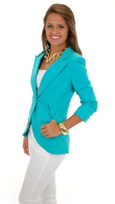 Love the colors.  Great work outfit.