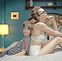 A cool glamourous mother and child fashion story shot in an Parisian hotel by Gerard Harten. Fashion Story, Kids Fashion, Mother And Child, Pedi, Parisian, Princess Zelda, Glamour, Lingerie, Style Inspiration