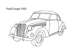 Super car Ford Coupe 1932 coloring page, cool car printable free