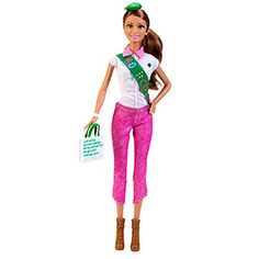 BARBIE LOVES GIRL SCOUTS - TERESA DOLL $12.49 #75038  Barbie® doll loves the Girl Scouts and is ready to sell cookies for the cause.This keepsake doll wears a Girl Scout-inspired outfit with plenty of Barbie® signature style.