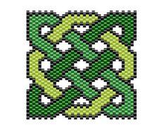 Celtic Knotwork Bracelet brick stitch by NaturalWondersbyCari