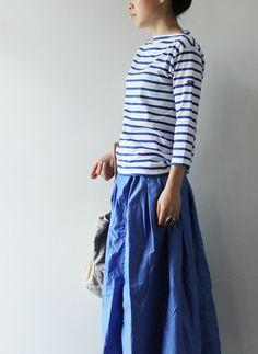 striped top & denim skirt, spring is comming!!!!