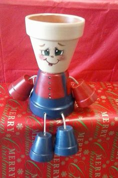 Flower pot people small boy by crazycraftingfriends on Etsy