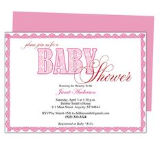 Sweetness Baby Shower Invitation Template  Baby Shower Invitation