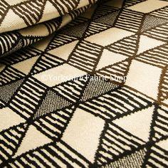 Drapery Upholstery Fabric Railroaded Retro Chenille Wavy Lines Ivory Multi