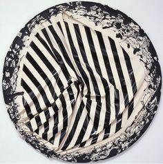 Steven Parrino Skeletal Implosion, 2001 Enamel on canvas 84 inches diameter cm) Gagosian Gallery, Collage Art Mixed Media, Texture Photography, Artist Biography, Textile Fiber Art, Flash Art, Circle Pattern, Conceptual Art, Fabric Painting