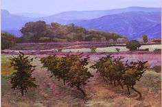 The Kent Lovelace Website Vineyard, Artsy, Country Roads, France, Landscape, Places, Artwork, Paintings, Outdoor