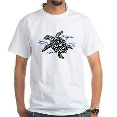 Swimming Black Turtle T-Shirt > Swimming Black Turtle > Under The Sea