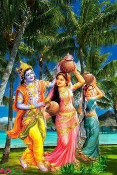 Radha Krishna Wallpaper, Lord Krishna Images, Radha Krishna Pictures, Cute Krishna, Radha Krishna Love, Radhe Krishna, Ganesh Bhagwan, Krishna Drawing, Ganesha Art