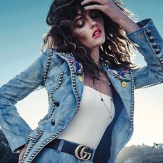 Gonna cruise into the weekend like @montanacox1 in @gucci's fresh denim. Tap the link in our bio to see the best looks from SS17 now! #HarpersBazaarSG #AprilBAZAAR Editor-in-Chief: @kennieboy Photography: @simonuptonpics Styling: @windyaulia Model: @montanacox1 | @imgmodels Hair: @michael_brennan Makeup: @lindajefferyesmakeup  via HARPER'S BAZAAR SINGAPORE MAGAZINE OFFICIAL INSTAGRAM - Fashion Campaigns  Haute Couture  Advertising  Editorial Photography  Magazine Cover Designs  Supermodels…