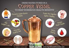Drink Water Stored in a Copper Vessel