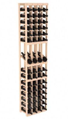 Handmade Wooden 5 Column 75 Bottle Display Row Wine Cellar Kit in Ponderosa Pine. 13 Stain Combinations to Choose From! Wine Cellar Racks, Wine Glass Rack, Wine Cellars, Wine Racks America, Wine In The Woods, Built In Wine Rack, Wine House, Bottle Display, Wood Display