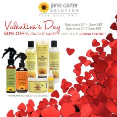 Jane is feeling generous and wants to SHARE THE LOVE with all of you this Valentine's Day Weekend! This holiday isn't only for couples. JCS wants to encourage your personal growth and self confidence. Dare to try something new to improve yourself. Dare to be who you were meant to be!   To help you on the journey to a better you, we're offering 50% OFF select products* (with $75 minimum purchase) through 2/17. Use code JCSVALENTINE at checkout.  *Visit link for products included:
