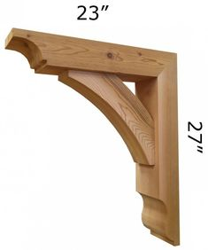 We offer wooden cedar architectural brackets, wooden cedar corbels and gingerbreads for front porch posts, gable, sofits and front stoop. We have largest selection of Cedar Brackets and Cedar Brace made in USA. Wooden Pergola, Backyard Pergola, Pergola Shade, Pergola Kits, Pergola Ideas, Wooden Corbels, Wooden Brackets, Corbels Exterior, Front Porch Posts