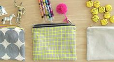 How to sew a Lined Zipper Pouch | MADE