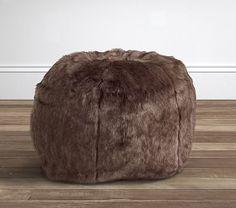 Sunbear Faux Fur Anywhere Beanbag® | Pottery Barn Kids