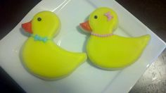 Baby shower duck sugar cookies