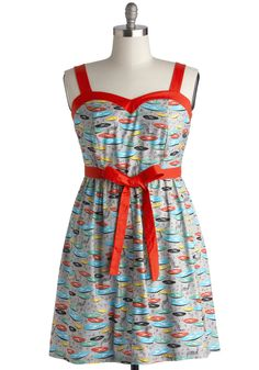 For the Record Books Dress. Its hard to keep count of the compliments you received on this printed dress by Bea  Dot at tonights dance! #multi #modcloth