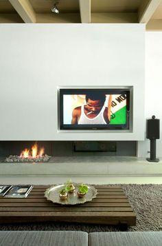 Se rechauffer et regarder la télévision