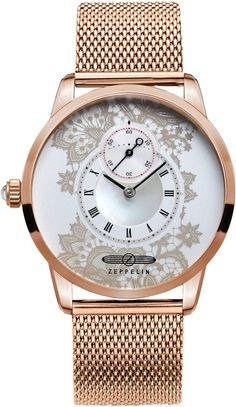 Zeppelin Watch Viktoria Luise Lady #bezel-fixed #bracelet-strap-gold…