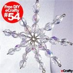Beaded Crystal Snowflakes ~ FREE Printable DIY Project Sheet PDF 54 Supplies and DIY from eCrafty.com ~ Happy Creating!