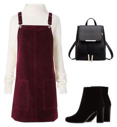 """""""Untitled #232"""" by happysunnyflower ❤ liked on Polyvore featuring Diane Von Furstenberg, Topshop and Yves Saint Laurent"""