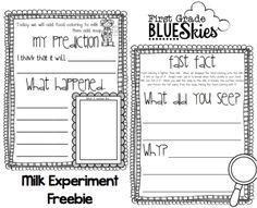 Milk Plus Soap Equals Fun {FREEBIE} - First Grade Blue Skies