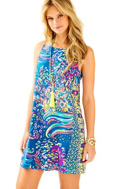df3e269a2b5 Lilly Pulitzer Jackie Silk Shift Dress in Multi Beach Loot Engineered  Jackie Dress