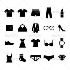 Fashion Icon by Tzubasa Fashion Icon set for your design Fully editable File : AI / EPS10/ JPG Image