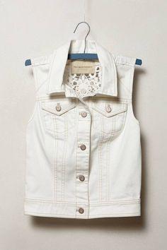 Anthropologie Pilcro Laced Denim Vest on shopstyle.com