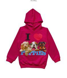 Bluza ocieplana z kapturem Pieski-róż-dziewczynka Hoodies, Sweaters, Fashion, Moda, Sweatshirts, Fashion Styles, Parka, Sweater, Fashion Illustrations